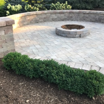 Patio Fire Pit Design and Installation Shelby Township Michigan